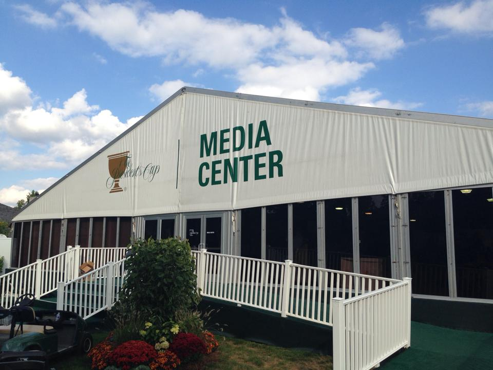 presidents cup media tent